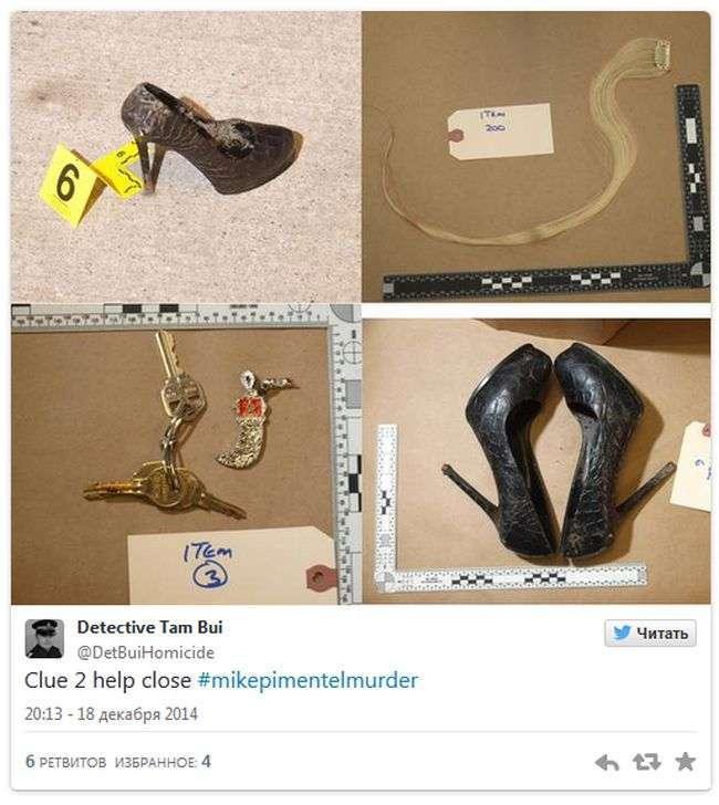 Користувачі Твіттера допомагають детективу в розслідуванні злочинів (3 фото)