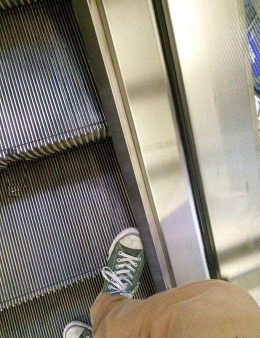 Друга корисна функція ескалатора (5 фото)