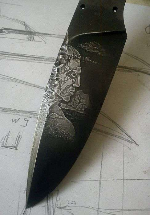 Фотозвіт про створення унікальних ножів маорі (41 фото)