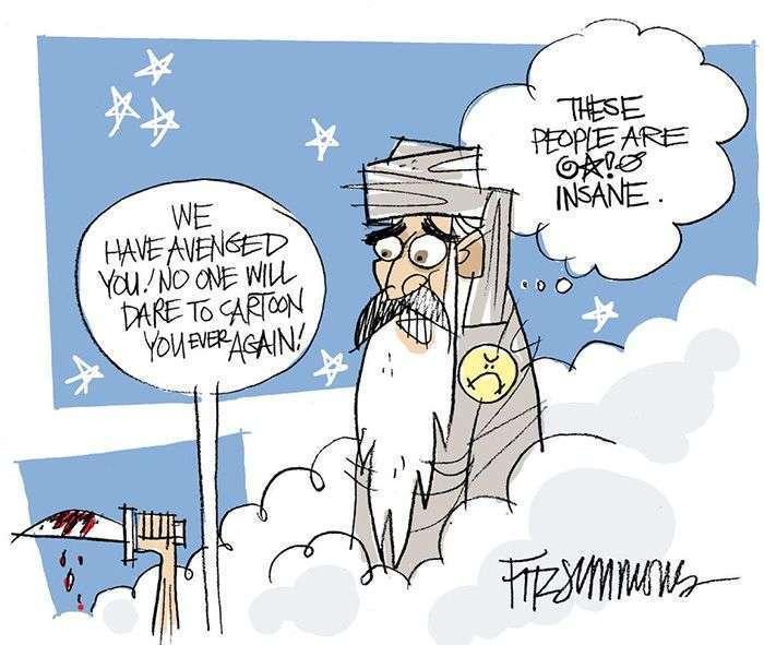 Реакція колег убитих карикатуристів на дії терористів (28 малюнків)