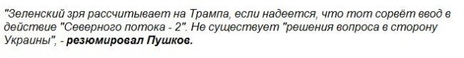 В Совфеде рассказали, что Зеленский не с теми решает вопросы зеленский, украина, северный поток, россия, совет федерации, трамп
