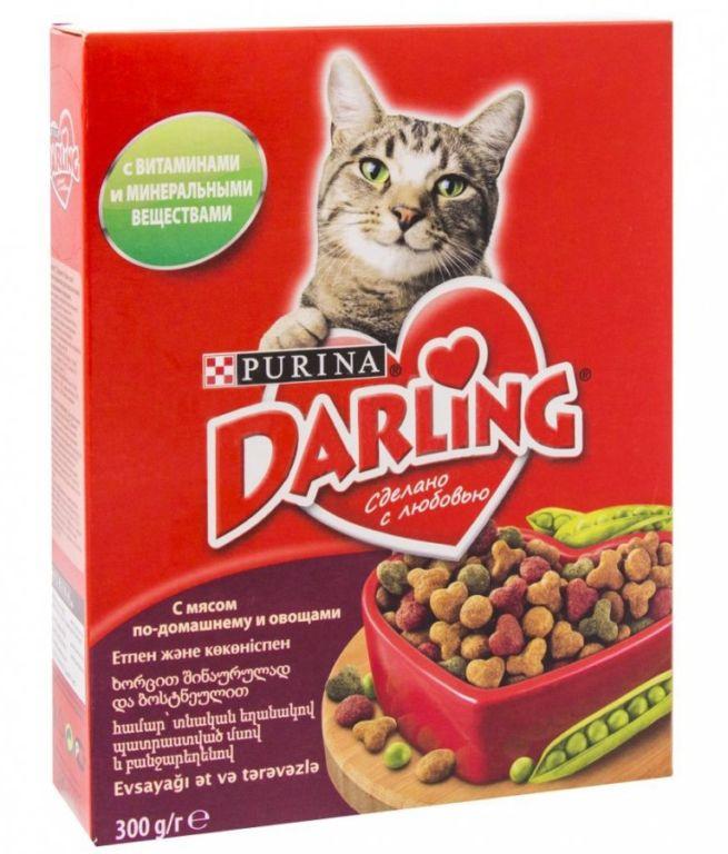 Корм для кошек «Дарлинг»: состав, отзывы ветеринаров зверушки,живность,питомцы, Животные