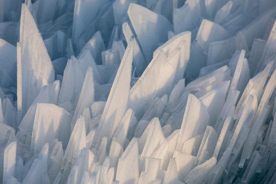 Замерзшее озеро Мичиган разбилось на миллион осколков МиР
