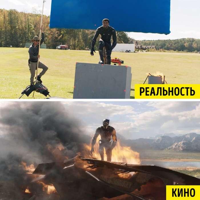 19снимков, показывающих, как изменились известные фильмы после добавления спецэффектов Интересное