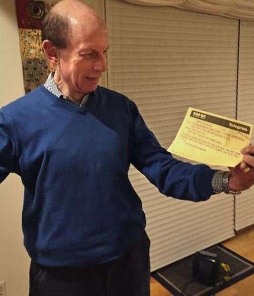 Американцу телеграмма с поздравлениями пришла с опозданием на 50 лет Интересное