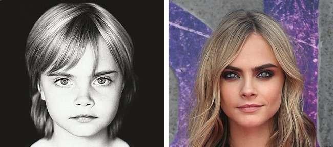 Знаменитые фотомодели в детстве Интересное