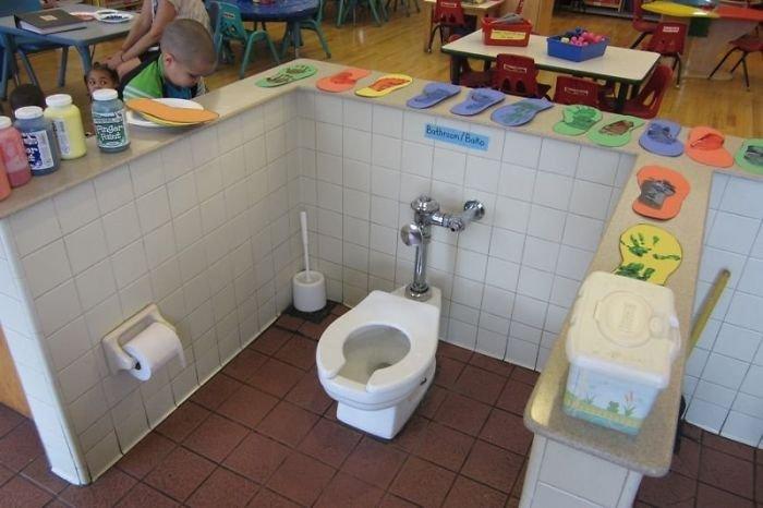 Забавные элементы дизайна из ванной комнаты и туалета