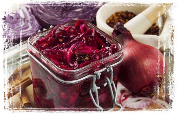 Вкусные рецепты из краснокачанной капусты еда,пища,рецепты, закуски