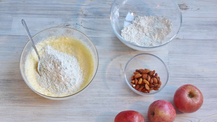 Немецкий яблочный пирог типа шарлотка еда,пища,рецепты, выпечка