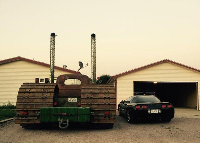 Чумовой трехколесный монстр Verzani Farms Rat Rod