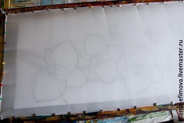 Мастер-класс по холодному батику с элементами акварельной техники батик